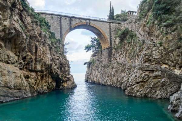 Bridge in Furore one of Amalfi cost towns